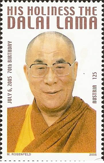 Bild zum Artikel Briefmarke Dalai Lama