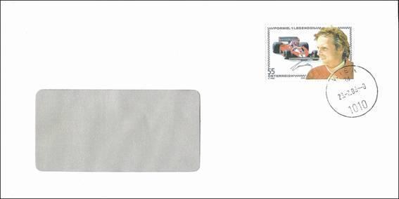 Bild zum Artikel Die Nikki Lauda Marke auf Brief